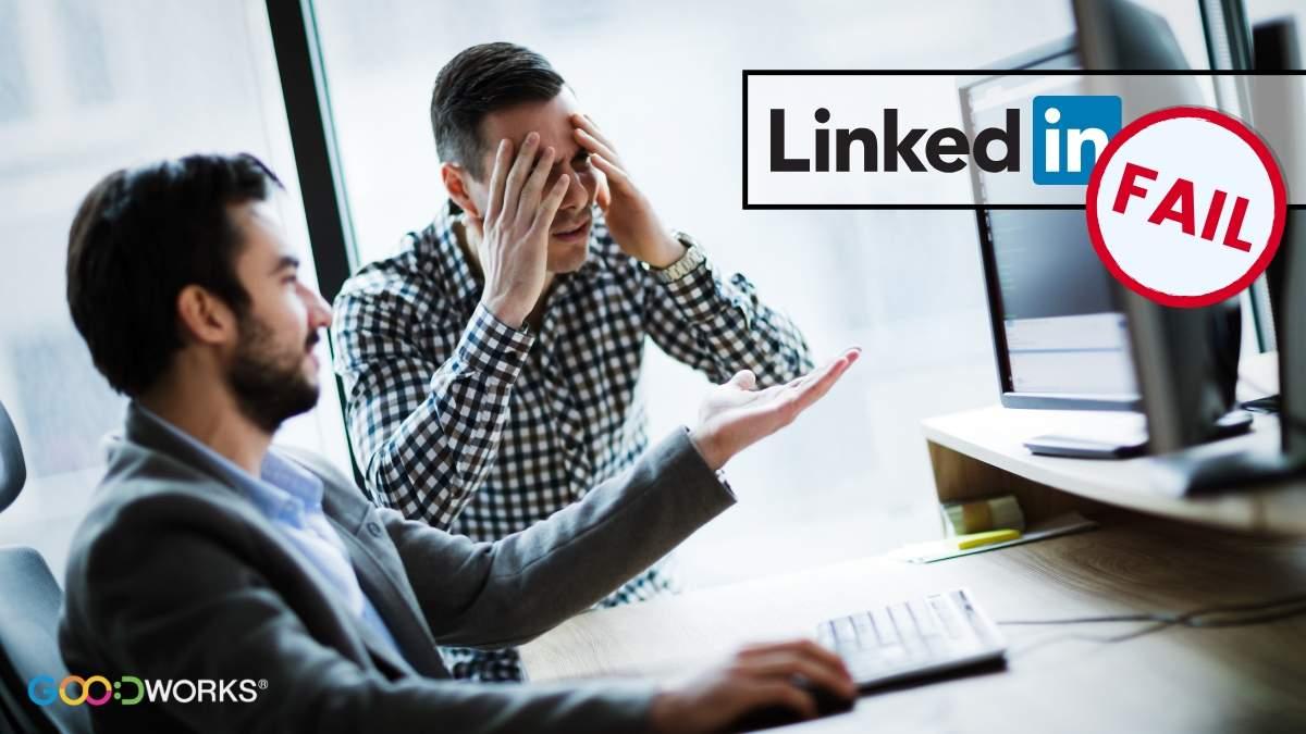 Erros em Linkedin empresarial